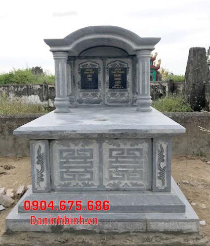 mộ đôi đẹp tại Bình Thuận - Xây mộ đôi bằng đá tại Bình Thuận 10