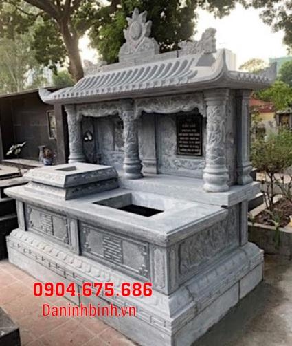 mộ đôi đẹp tại Bình Thuận - Xây mộ đôi bằng đá tại Bình Thuận 11