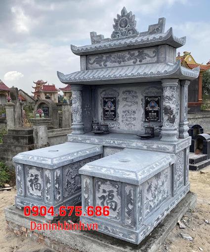 mộ đôi đẹp tại Bình Thuận - Xây mộ đôi bằng đá tại Bình Thuận 12