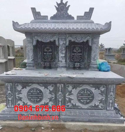mộ đôi đẹp tại Bình Thuận - Xây mộ đôi bằng đá tại Bình Thuận 3