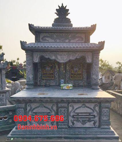 mộ đôi đẹp tại Bình Thuận - Xây mộ đôi bằng đá tại Bình Thuận 4