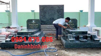 mộ đôi đẹp tại Bình Thuận - Xây mộ đôi bằng đá tại Bình Thuận 5