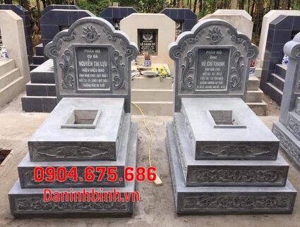 mộ đôi đẹp tại Bình Thuận - Xây mộ đôi bằng đá tại Bình Thuận 6