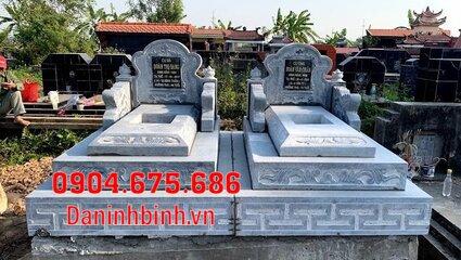 mộ đôi đẹp tại Bình Thuận - Xây mộ đôi bằng đá tại Bình Thuận 7