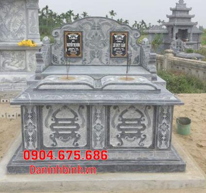 mộ đôi đẹp tại Bình Thuận - Xây mộ đôi bằng đá tại Bình Thuận 8