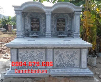 mộ đôi đẹp tại Bình Thuận - Xây mộ đôi bằng đá tại Bình Thuận 9