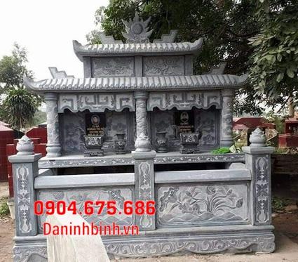 mộ đôi đẹp tại Bình Thuận - Xây mộ đôi bằng đá tại Bình Thuận 13