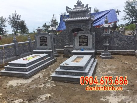mộ đôi tại Cà Mau mẫu đẹp chuẩn phong thủy