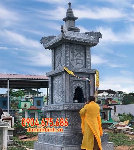 mộ tháp đá đẹp chất lượng cao lắp đặt tại Tiền Giang