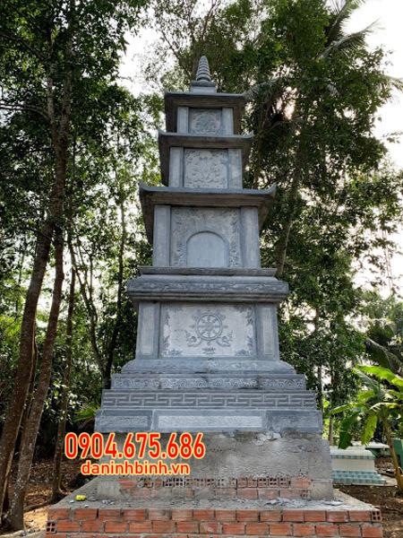 mộ tháp đá đẹp lắp đặt tại Tiền Giang