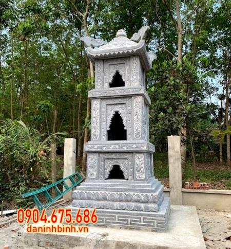 mộ tháp đá đẹp lắp tại Hậu Giang