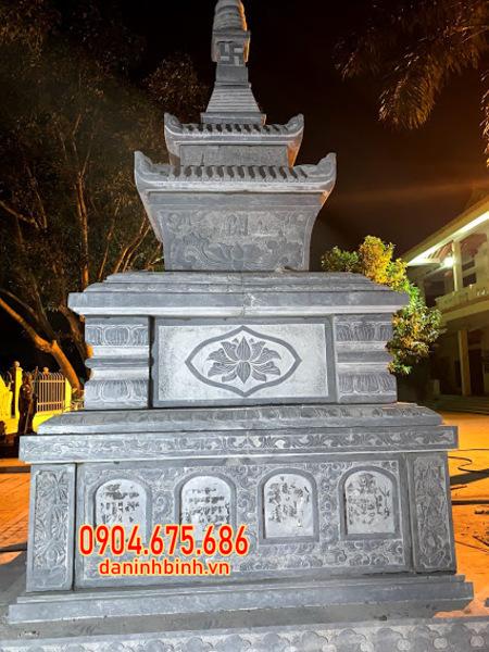 tháp mộ bằng đá đựng tro cốt tại Trà Vinh