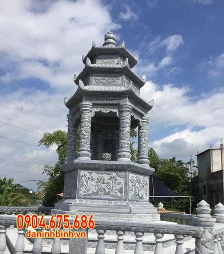 tháp mộ đá đẹp tại Đồng Tháp