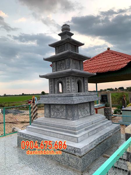 tháp mộ đá đựng tro cốt đẹp tại Trà Vinh