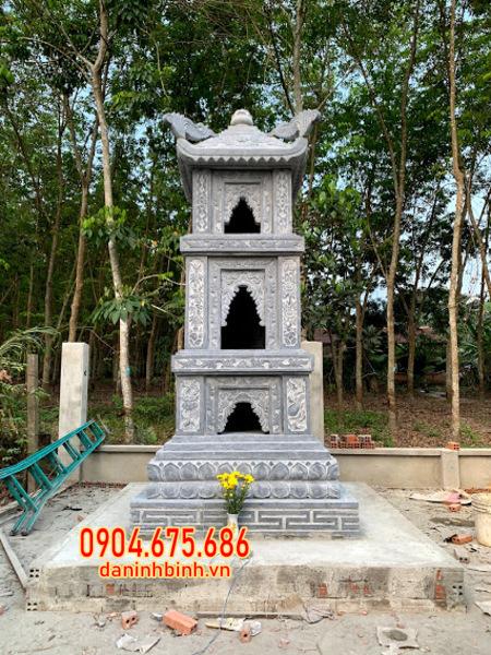 tháp mộ phật giáo bằng đá đựng tro cốt tại Trà Vinh