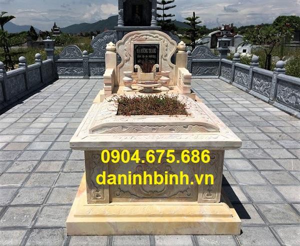 Mẫu mộ đơn giản đẹp bằng đá vàng