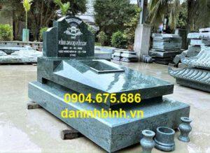 Mẫu mộ đơn giản đẹp bằng đá xanh