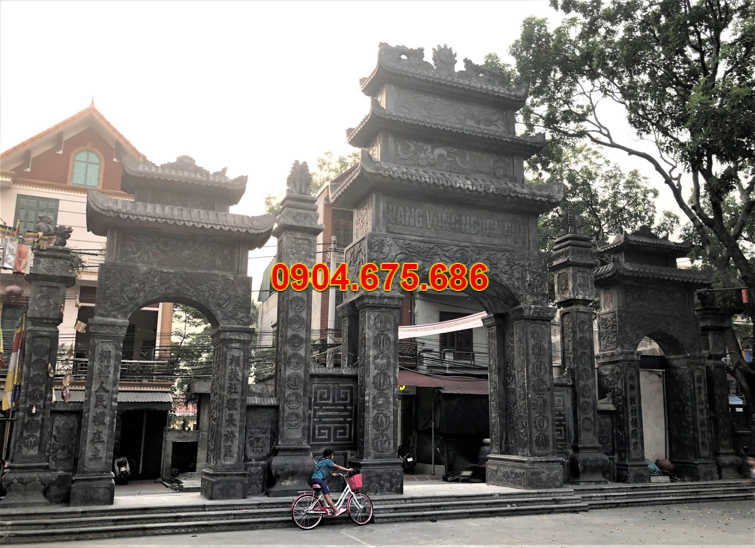 Cổng làng đá Ninh Vân đẹp