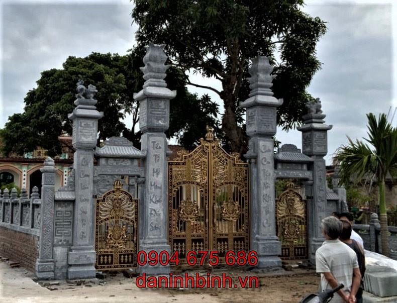 Cổng nhà thờ họ tộc từ đường đẹp