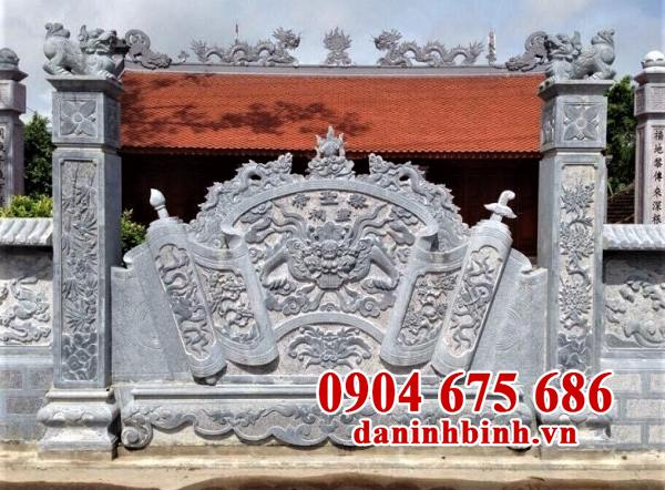 Cuốn thư đá đền thờ đẹp