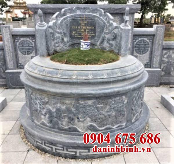 Mẫu mộ tròn bằng đá tự nhiên đẹp