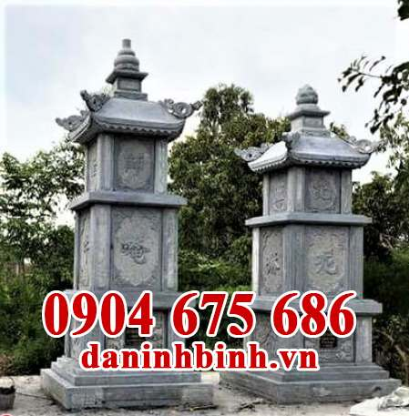 Mẫu tháp mộ để tro cốt bằng đá