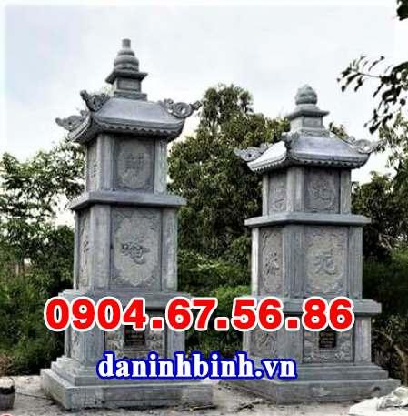 Mẫu ngôi tháp mộ để tro hài cốt bằng đá đẹp