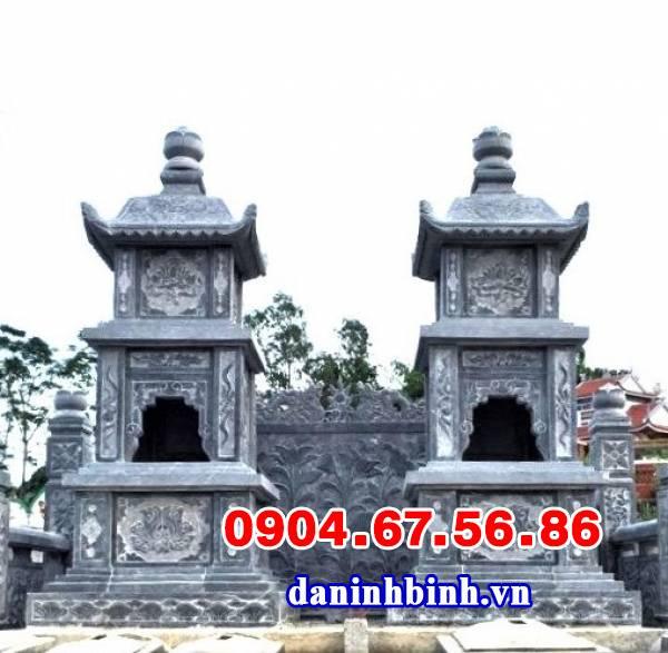 Xây tháp mộ để tro cốt bằng đá nguyên khối