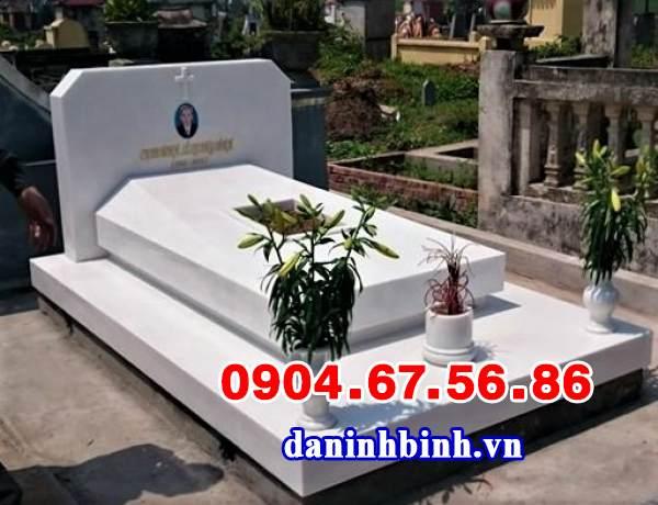 Mẫu mộ đá trắng đẹp